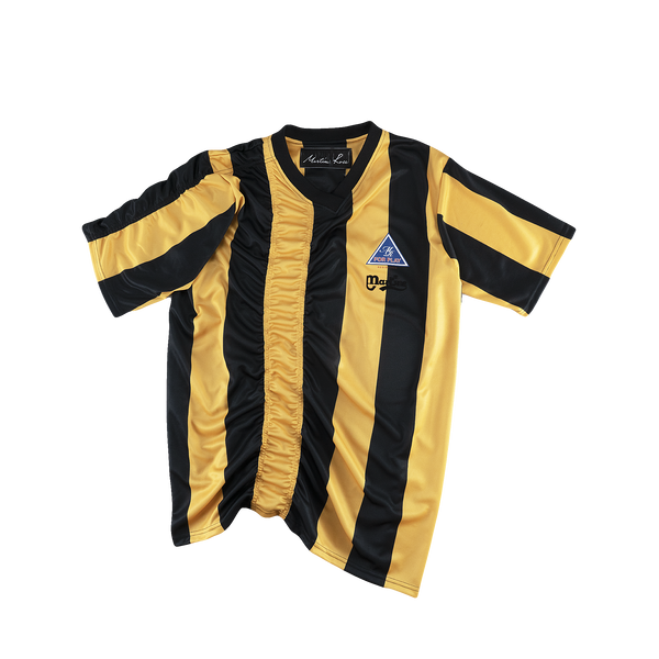 Martine Rose Ruched Football Top [Yellow/Black]