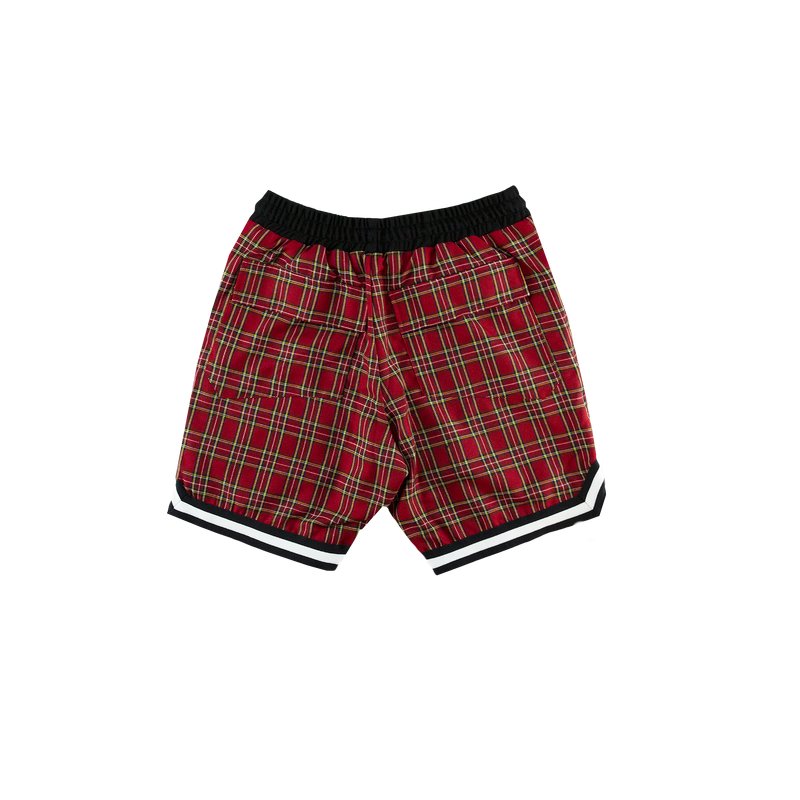 Rhude Basketball Shorts [Red Plaid]