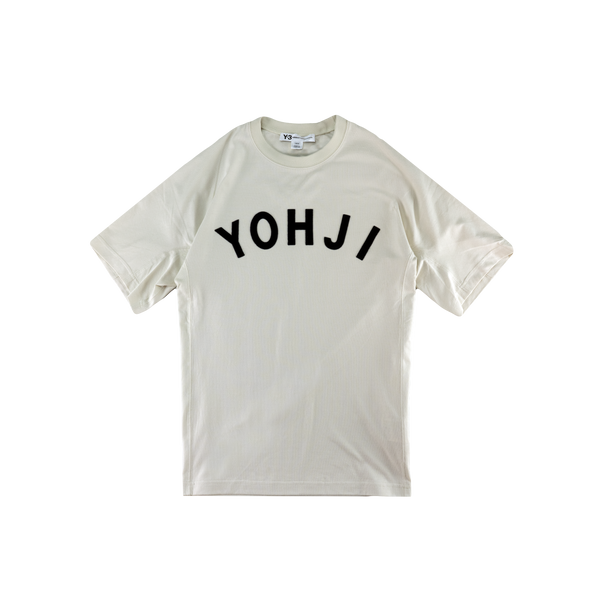 Y-3 Yohji Letters T-Shirt [Ecru/Legend Ink]