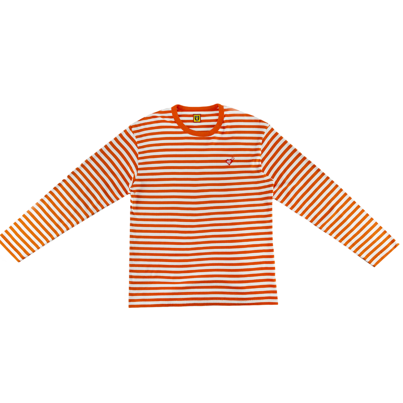 Human Made Border L/S T-Shirt in Orange with stripes  Style: HM17CS011O
