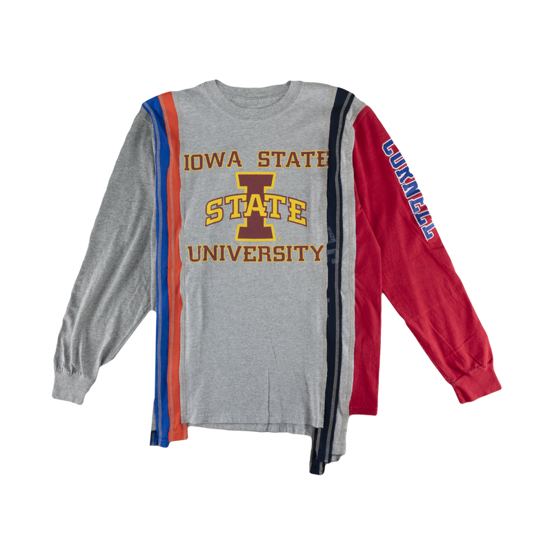 Rebuild by Needles 7 Cuts L/S College Tee [Assorted]