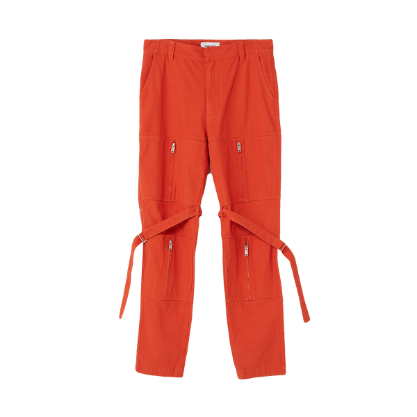 AMBUSH Zipper Bondage Pants 'Orange'