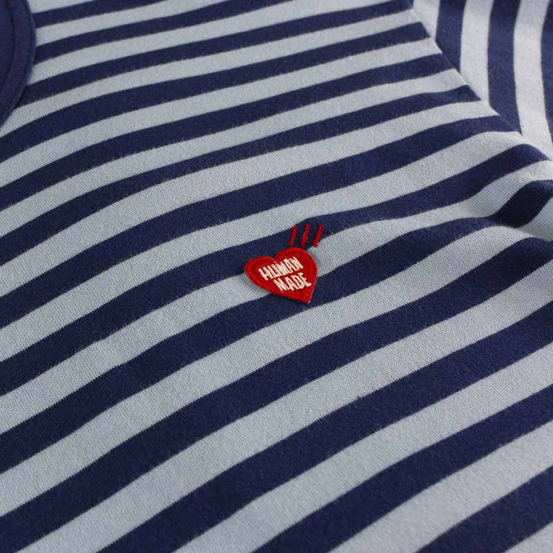 Human Made Border L/S T-Shirt [Navy Stripe]