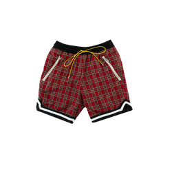 Rhude Basketball Shorts in Red Plaid  Style: 02ASH09201