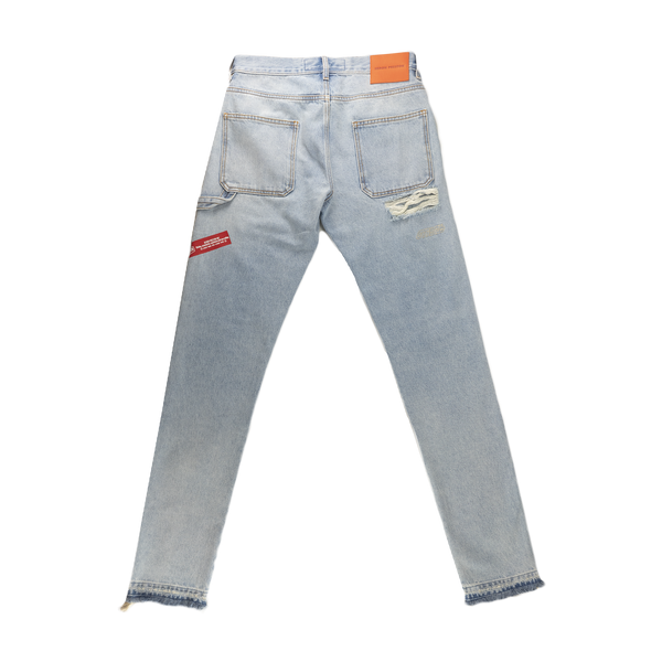 Heron Preston Hammer Holder Denim Work Pants [Light Blue]
