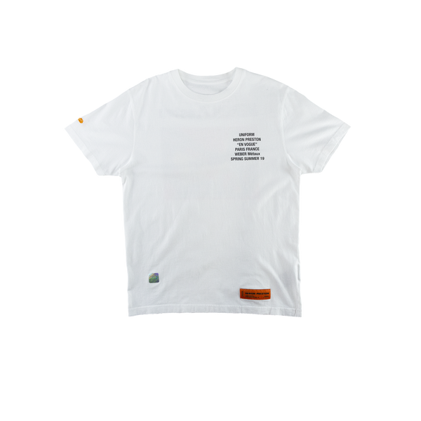 Heron Preston Metal Worker S/S T-Shirt in White  Style: HMAA001S196320260188