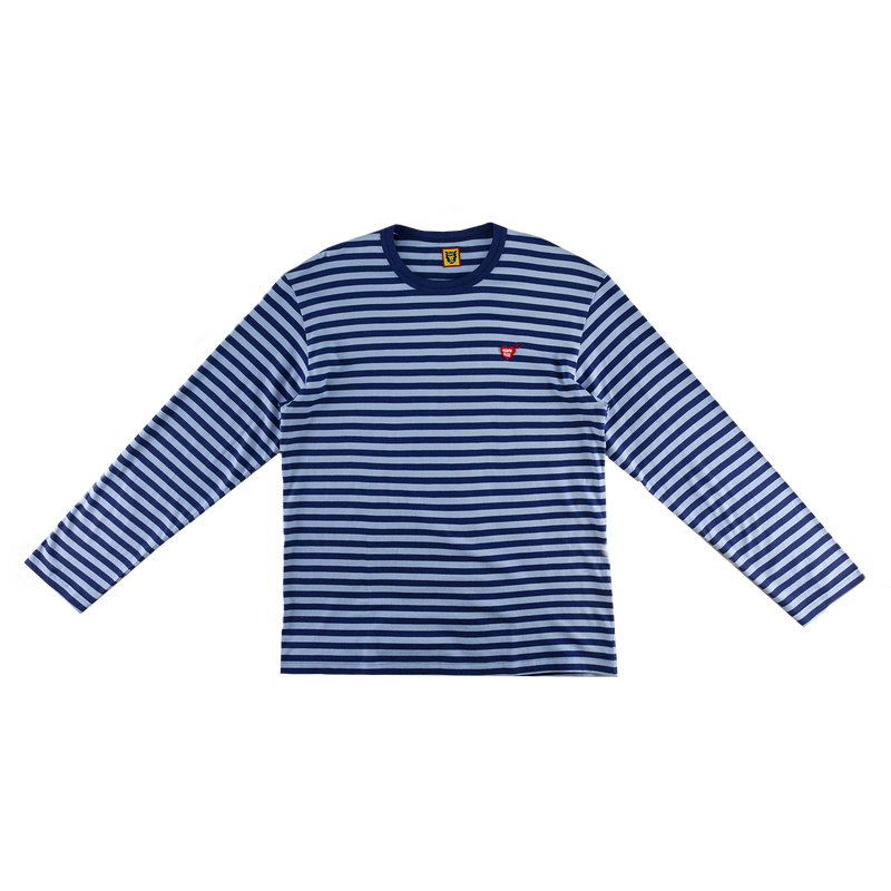 Human Made Border L/S T-Shirt in Navy with stripes  Style: HM17CS011N