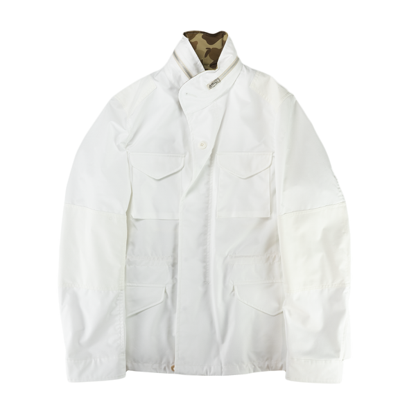 Junya Watanabe MAN Cotton Broad Laminated Water Repellent Jacket in White  Style: WC-J030-051