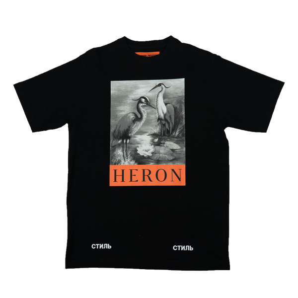 Heron Preston B&W Herons S/S T-Shirt [Black]