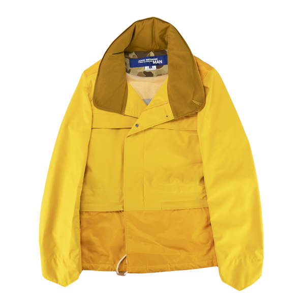 Junya Watanabe MAN Polyester 3-Layer Laminated Water Repellent Jacket in Yellow  Style: WC-J016-051