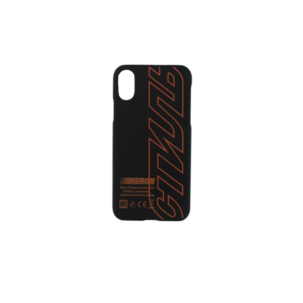 Heron Preston CTNMB iPhone X Cover in Black/Orange  Style: HMPA001S19739002
