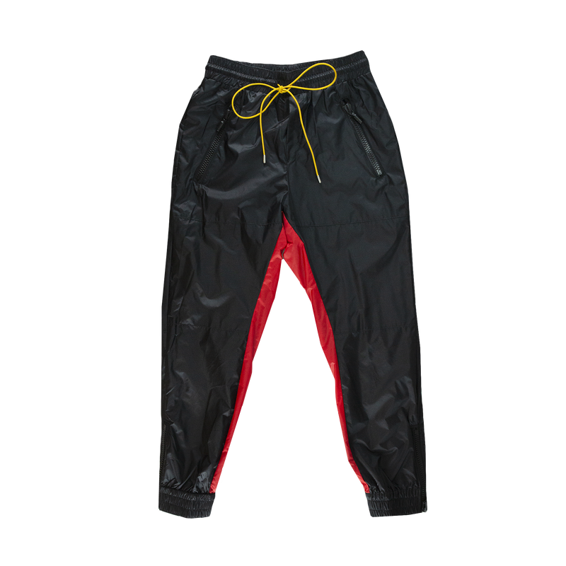 Rhude Nylon Pants in Black/Red  Style: 03APP03701