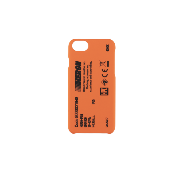 Heron Preston CTNMB iPhone X Cover in Black/Orange  Style: HMPA001S19739004