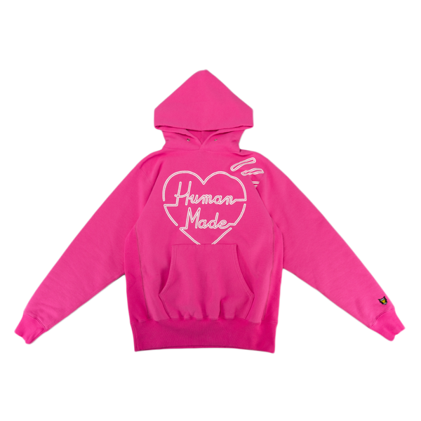 Human Made Pizza Hoodie in Pink