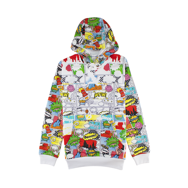 Comme des Garcons SHIRT Comic Print Hoodie [Red/Multi]