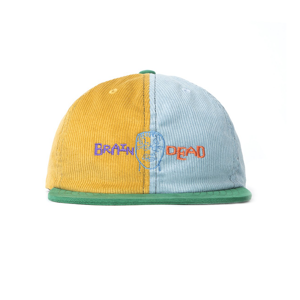 Brain Dead Corduroy Color Blocked Hat [Yellow/Teal]