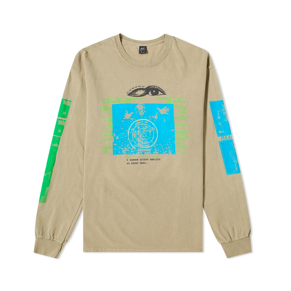 Brain Dead Sun Head L/S T-Shirt [Natural]