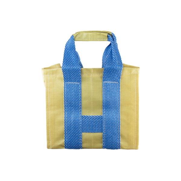 COMME des GARÇONS SHIRT Large Tote in Yellow/Blue  Style: S27612