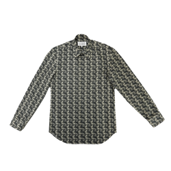 Maison Margiela Slim Fit Woven Shirt in Margiela Block Print  Style: S30DL0423