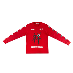 Undercover Zenmondoo L/S T-Shirt in Red  Style: UCW4892
