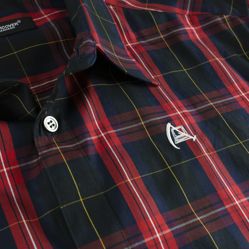 Undercover Bloody Geekers Button Down Shirt [Navy Check]