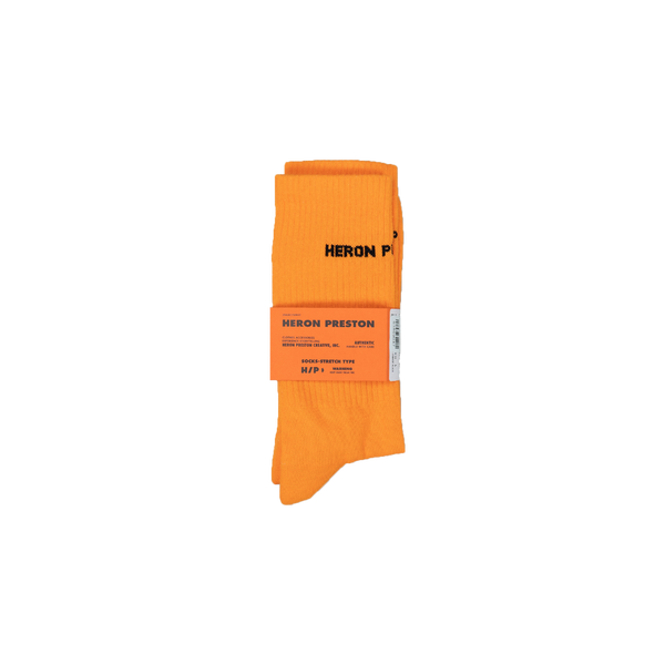 Heron Preston Cotton Rib Socks [Orange]