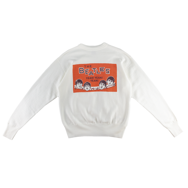 Human Made Beatles Sweatshirt in White/Orange  Style: HM17CS001
