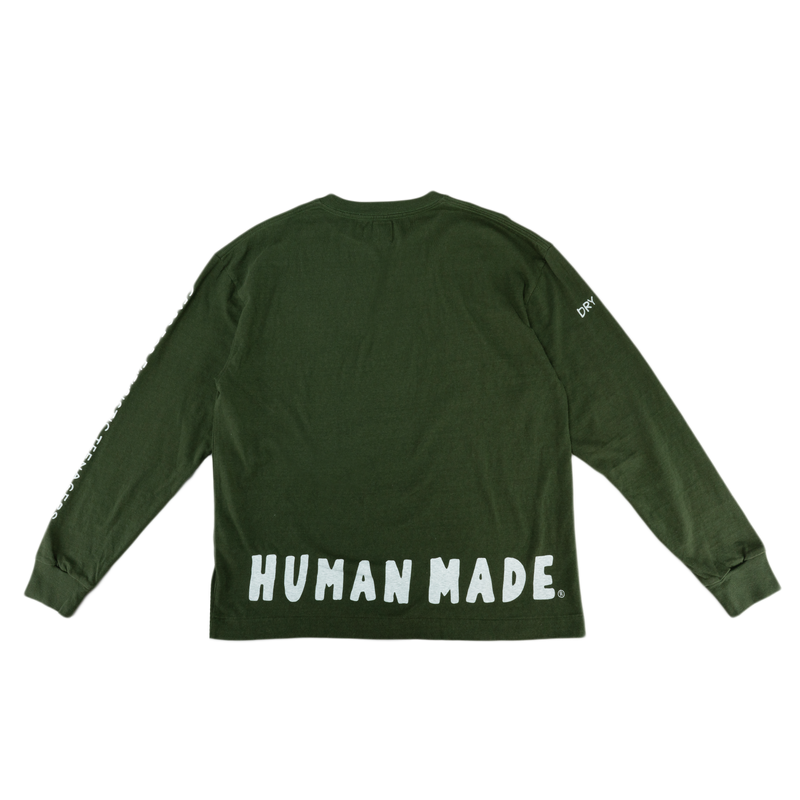 Human Made Long T-Shirt in Olive