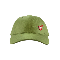 Human Made Felt Cap in Olive  Style: HM17GD007O