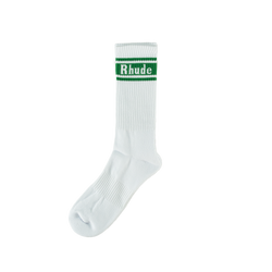 Rhude Socks with Green Stripe  Style: 02ASO06501