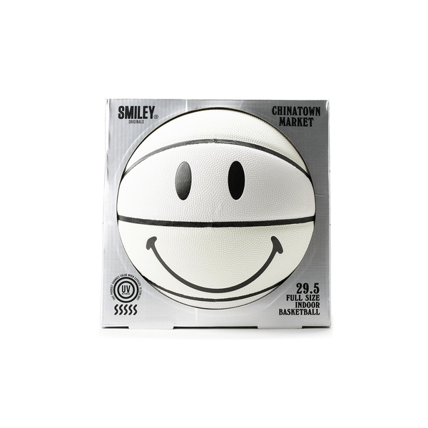 Chinatown Market UV Smiley Basketball [White]