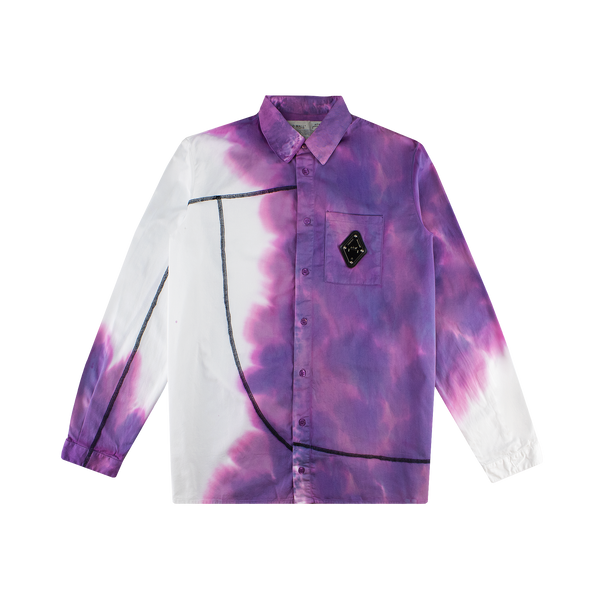 A-COLD-WALL* Bruised Shirt With Overlock [White/Black]