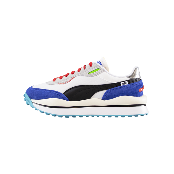 Puma Style Rider Ride On 'White/Dazzling Blue' [372839-01]