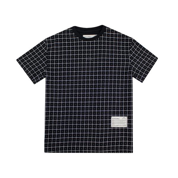 A-COLD-WALL* Grid Print T-Shirt [Black]