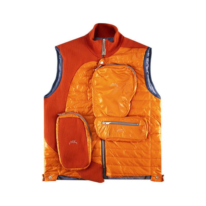 A-COLD-WALL* Puffer Gilet With Asymmetrical 3D Pocket [Orange]