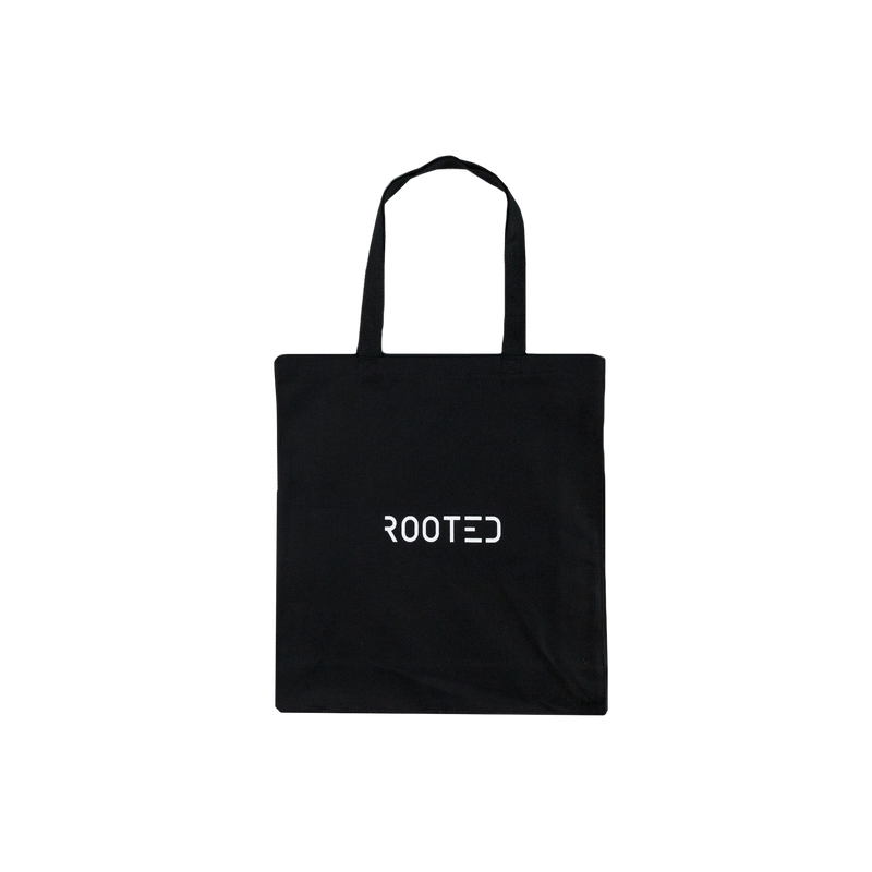ROOTED Tote Bag in Black
