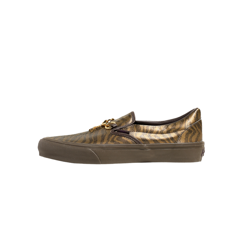Vans x Needles Classic Slip-On 'Brown/Zebra/Leopard' [VN0A3QXY2GU]