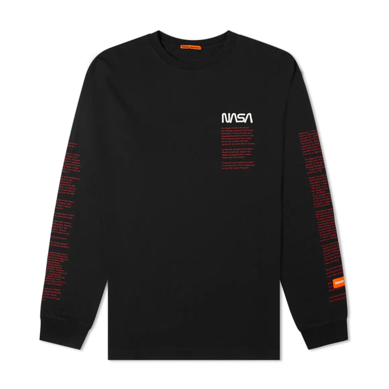 Heron Preston NASA Facts L/S T-Shirt [Black]