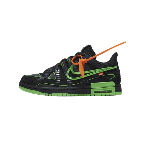 Nike x Off-White Air Rubber Dunk 'Black/Green Strike' [CU6015-001]