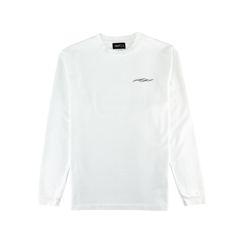 ROOTED Foundation L/S Tee [White]