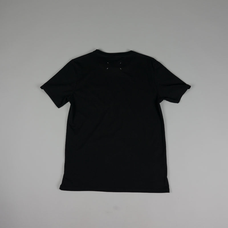 Back of black Maison Margiela 'Stereotype' T-Shirt at ROOTED