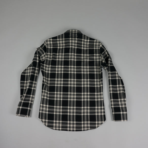 Back of Check Button Shirt by French Designer Maison Margiela