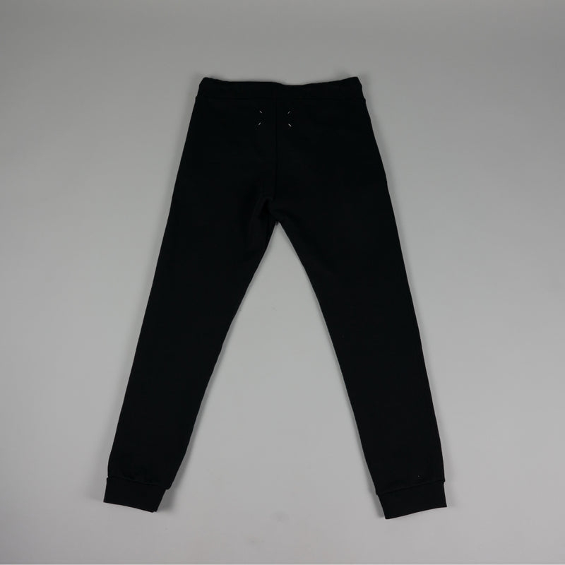 Back of fashion designer Maison Margiela Cotton Sweatpant in black
