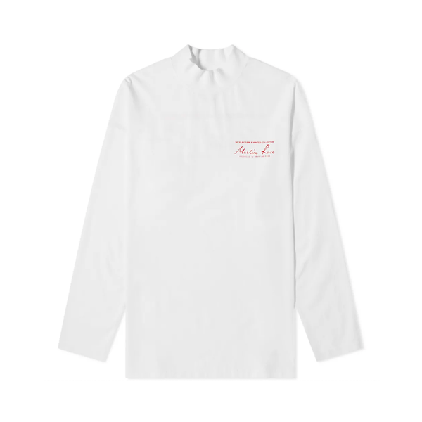 Martine Rose Jersey Funnel Neck [White]