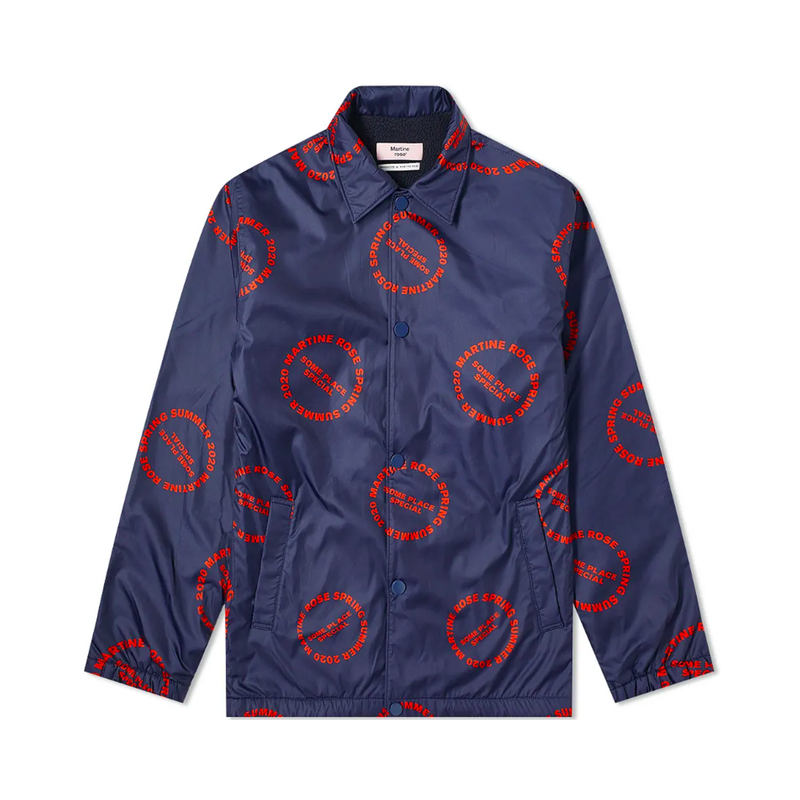 Martine Rose Coaches Jacket [Red Print]