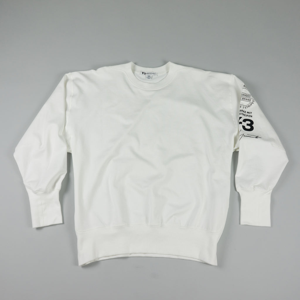 Y-3 Graphic Crew Sweatshirt [White]
