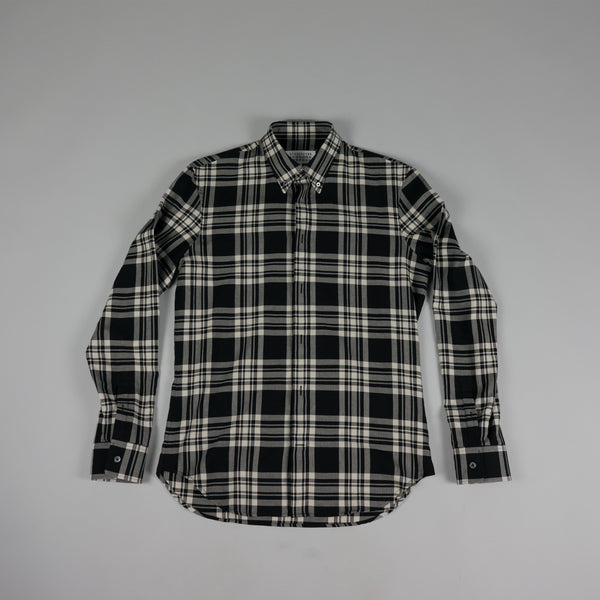 Front of Check Button Shirt by French Designer Maison Margiela