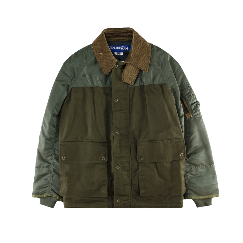 Junya Watanabe Reversible Paneled Jacket [Khaki/Green]
