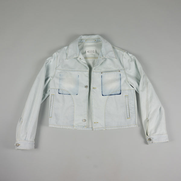 Front of Maison Margiela Light Denim Jacket at ROOTED Nashville