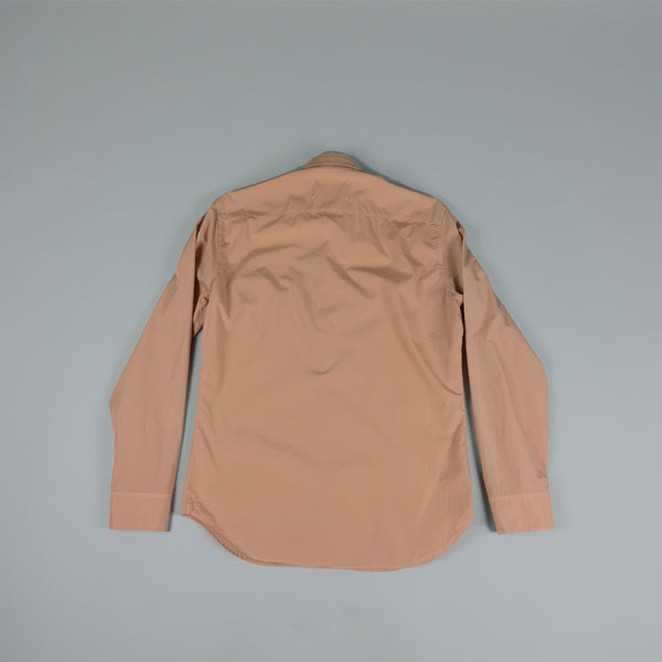 Back of Maison Margiela Garment Dyed Ash-Rose Button-Down at ROOTED